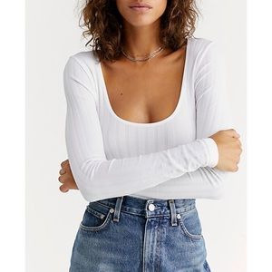 Free People Lucky You Ribbed Layering Top